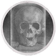 Untitled Skull Round Beach Towel