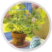 Untitled Round Beach Towel by Julia Rowntree