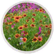 Up Close In The Garden 2 Round Beach Towel