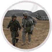 U.s. Army Commander, Right Round Beach Towel