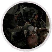 U.s. Army Medics Simulating Ventilation Round Beach Towel