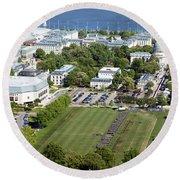 Us Naval Academy Round Beach Towel