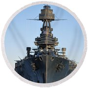 Uss Texas Bow Round Beach Towel