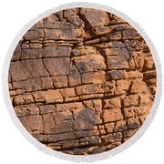 Valley Of Fire State Park Nevada Round Beach Towel
