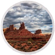 Valley Of The Gods II Round Beach Towel