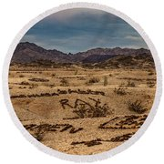 Valley Of The Names Round Beach Towel by Robert Bales