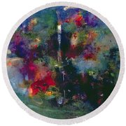 Valley Of The Waterfalls Round Beach Towel