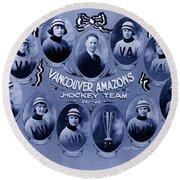 Vancouver Amazons Women's Hockey Team 1921 Round Beach Towel