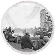 Vanderbilt Cup, 1910 Round Beach Towel