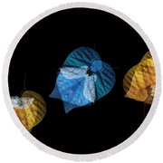 Variations On A Leaf Round Beach Towel