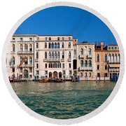 Venice Grand Canal View Italy Round Beach Towel