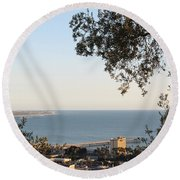Ventura Skyline Round Beach Towel