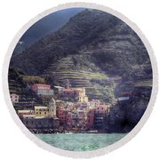 Vernazza Round Beach Towel by Joana Kruse
