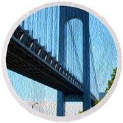 Verrazano Bridge Round Beach Towel