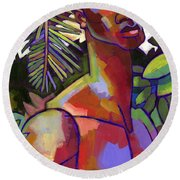 African Forest Round Beach Towel by Douglas Simonson