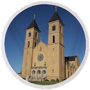 Victoria Kansas - Cathedral Of The Plains Round Beach Towel
