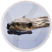 View Of Beaver, Chaudiere-appalaches Round Beach Towel