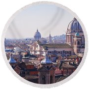 View Of Rome 2013 Round Beach Towel