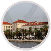 Views Of Split Croatia Round Beach Towel