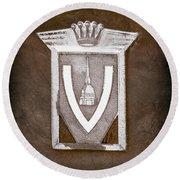 Vignale Emblem Round Beach Towel