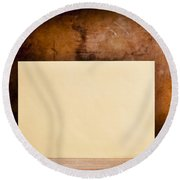 Vintage Envelope Background Round Beach Towel