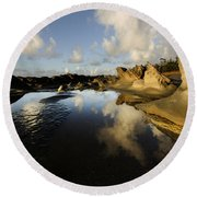 Visions Of Nature 6 Round Beach Towel