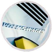 Volkswagen Vw Emblem Round Beach Towel