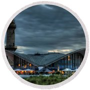 Warnemuende Round Beach Towel