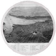 Washington, D.c., 1862 Round Beach Towel