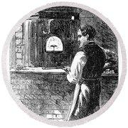 Watchmaker, 1869 Round Beach Towel