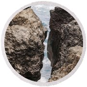 Water Hole Round Beach Towel