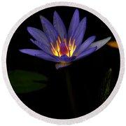 Lotus Bloom 2 Round Beach Towel