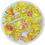 Giggling Watercolor Photography Round Beach Towel