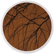 Weeping Birches Round Beach Towel