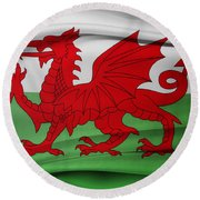 Welsh Flag Round Beach Towel