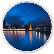 Westminster Blue Hour Round Beach Towel
