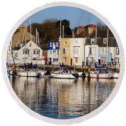 Weymouth In The Water Round Beach Towel