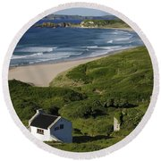 White Park Bay, Ireland Round Beach Towel