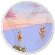 White Sands National Monument Round Beach Towel
