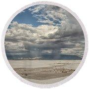 White Sands Rain Round Beach Towel