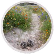 Wildflower Wonderland 11 Round Beach Towel