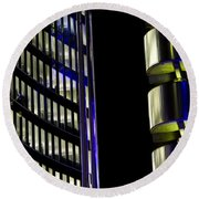 Willis Group And Lloyd's Of London Abstract Round Beach Towel