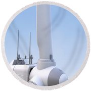Wind Turbine Round Beach Towel