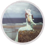 Windy Round Beach Towel