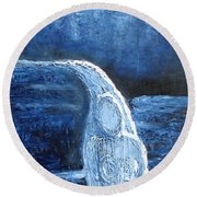 Winter Goddess Round Beach Towel