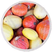 Winter Squash Round Beach Towel