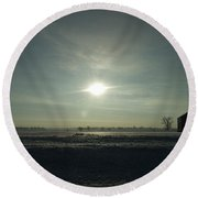 Winter Sunrise 2014 03 Round Beach Towel