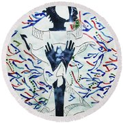 Wise Virgin Round Beach Towel