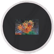 Witch Hazel Diane Round Beach Towel
