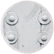 Wood And Bolts Round Beach Towel